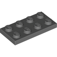 [New] Plate 2 x 4, Dark Bluish Gray. /Lego. Parts. 3020